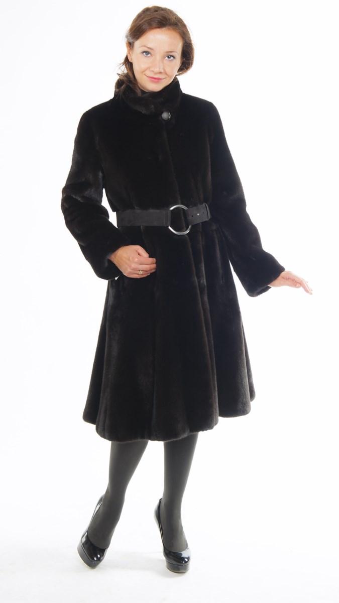 Арт.036.Пальто &nbsp;из канадской норки Black NAFA . Длина 105см.<s>200 000</s> руб./180 000 руб.<br />