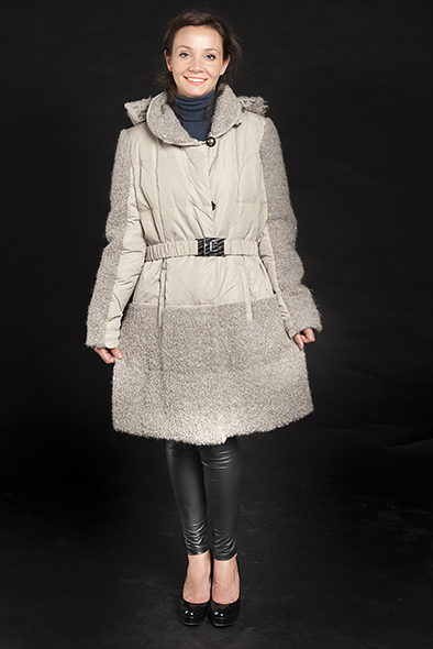 Арт.042. Пальто комбинированное трикотаж-полиэстер. Производство &quot;Diego Mazzi&quot;,Италия. &nbsp; &nbsp; &nbsp; &nbsp; &nbsp; &nbsp; &nbsp; &nbsp; &nbsp; <s>27 000</s> руб./24 300 руб.