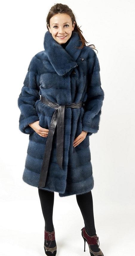Арт.566. Меховое пальто из норки.