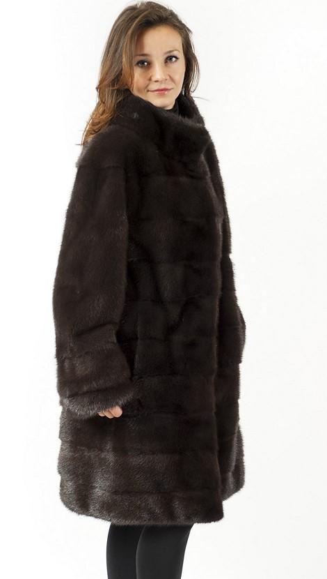 Арт.578. Полупальто из скандинавской норки. Длина 1м. Цена 138 000 руб.