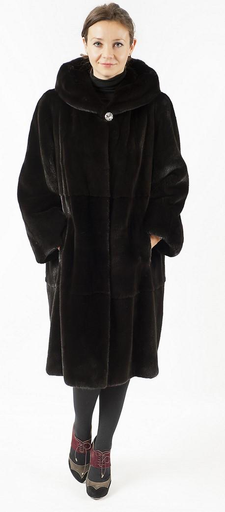 <p>Арт.519. Полупальто из американской норки, с капюшоном . Длина 1м. Цена 202 500.</p>