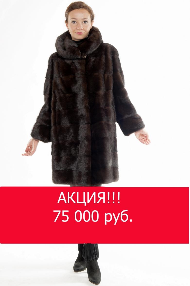 Арт.402. Шуба из скандинавской норки. Цвета:черный,махагон. Длина 100см. <s>118 000</s>руб./<s>85 500</s> руб.